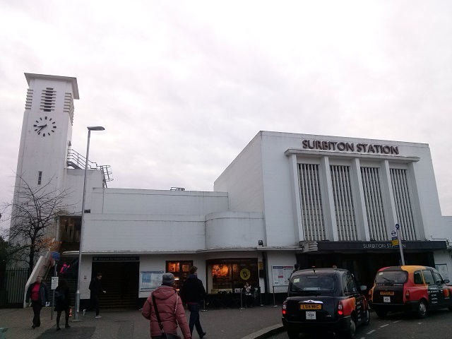 The art deco style of Surbiton Station