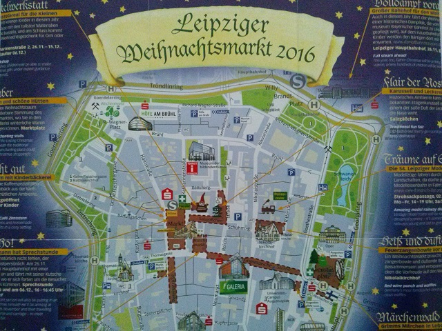 Leipzig Christmas Market map